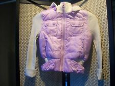 BONGO Girls Sz 5/6 Hoodie Sweater Vest Pink & Cream Free Ship