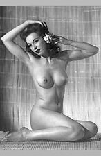 FAUX HULA DANCER VINTAGE BURLESQUE NUDE WOMAN TIKI ROOM HAOLE UKULELE GIRL PHOTO