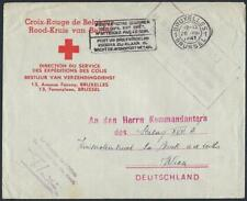 BELGIUM RED CRO 1941 AUSTRIA WWII BRUSSELS RED CROSS COVER ADDRESSED TO POW CAM