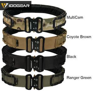 "IDOGEAR Two-in-One 2"" Tactical Belt Combat Quick Release Metal Buckle Mens Belts"