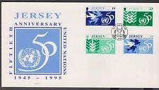 GB-Jersey 1995 50th anniversario delle Nazioni Unite 1945 - 95 SG 723/6 FDC Birds