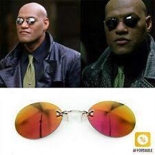 Sunglasses Men Clip On Nose Glasses Round Rimless Matrix Morpheus Mini Frameless
