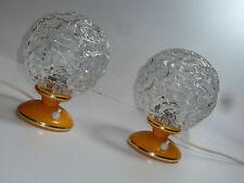 GRAEWE 70er 2 TISCHLAMPEN NACHTTISCH LEUCHTEN orange 70s pair of table lamps
