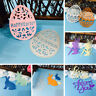 Easter Metal Bunny Rabbits Egg Cutting Dies Stencils for Cards Making DIY UK