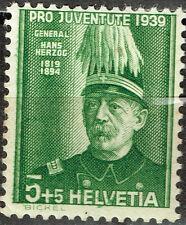 Switzerland Famous Franco-Prussian War General Hans Herzog stamp 1939 MLH