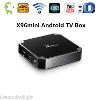 X96mini Android TV Box 2.4GHz WiFi 1GB+8GB 4K 3D HD H.265 Smart Media Player UK