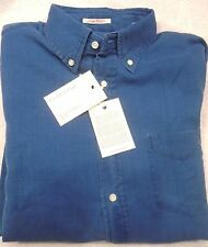 Gant Rugger 100% Cotton Indigo Waffle Sport Shirt Light Blue NWT  XXL $125