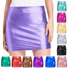 Kate Kasin Sexy Women's Shiny Stretchy Hips-wrapped Bodycon Short Mini Skirt