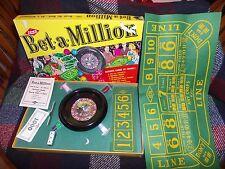 VTG Lowe Bet A Million Casino Roulette Dollar Felt Dice Chips Craps Bank Chance