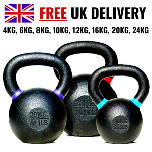 2-24kg Kettlebells Cast Iron Weights Fitness Exercise Home Gym Workout Training