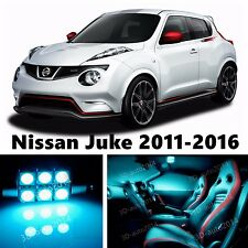 8pcs LED ICE Blue Light Interior Package Kit for Nissan Juke 2011-2016