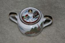 """Antique Japanese Porcelain milk pot: Kutani - 4-1/2""""H x 4""""D x 7""""W"""