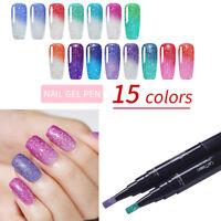 LEMOOC 5ml Nail Gel Pen Thermal UV Gel  Holographic Soak Off Gel Polish