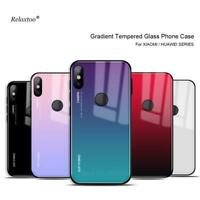 📱Xiaomi Mi 9 8 A2 Lite 9 A1 Mix 2 2s 6 8 se Gradient Phone Cover Tempered Glass