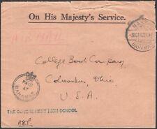 "BAHAMAS, 1942. OHMS ""Crown Paid"", Nassau - Columbus, Ohio"