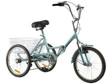 Foldable Adult Tricycle 20'' 7 Speed 3Wheel Folding Trike Bike w/shipping Basket
