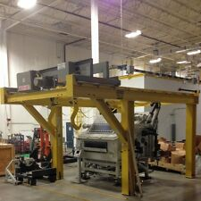 Chester Hoist 3-Ton Fixed Gantry Crane with Motorized Trolley and Electric Hoist