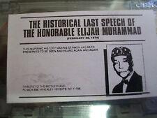 The Honorable Elijah Muhammad Historical Last Speech 2/26/74 RARE,O.O.P.