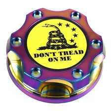 V2 Neo Chrome Oil Cap Filler Don't Tread On Me For Nismo GTR 350z 370z 240SX