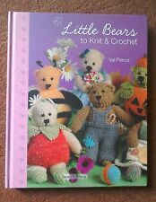 KNITTING PATTERN Crochet book 40 Little Teddy Bears To Knit FREE POSTAGE New