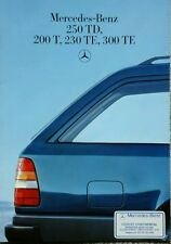 Mercedes 250TD, 200T, 230TE, 300TE Sales Brochure - January 1986