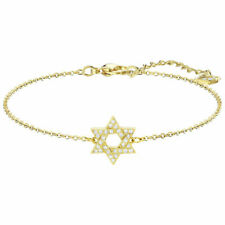 Retired Star of David Bracelet White Gold Plated Swarovski Jewelry 5410963