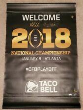 Nick Saban & TUA Signed Alabama 2017 Champs College Football Playoff CFP Banner