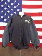 MSD Abate Motorcycle Safety Division Jacket Red Kap Coat Quilted Lining Size L
