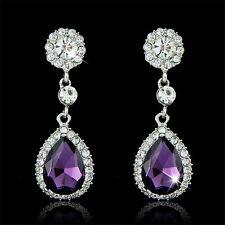 Trendy Rhinestone Bridal Water Drop Earrings Wedding Crystal Stud Earings、FaA!