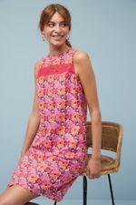 NEXT Red Pink Orange Blue Floral Linen Shift Tunic Summer Sun Dress 10 BNWT