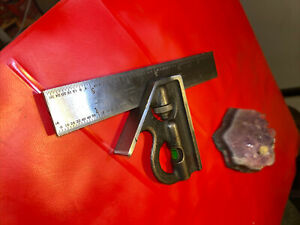"""Vintage Craftsman 6"""" Combination Square Hardened No.4 Grad.Machinist Made In USA"""