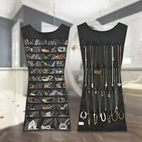 Jewelry Hanging Storage Bag Double-Sided Organiser Display Holder Practical#@W