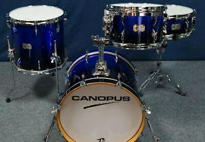 "Canopus Yaiba Bop Kit ""Cobald Blue Sparkle Fade Lacquer"" -18,12,14"" + Snaredrum"