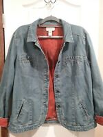 Out Of The Blue Brand Jill Denim Size Large Tall Womens Jacket *wtd*