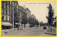 cpa 93 - SAINT DENIS Boulevard MARCEL SEMBAT Attelage Déménagement DESBORDES