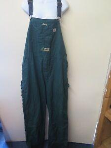 VINTAGE Denim Oversize Dungarees Overalls Jumpsuits Size 2XL UK 18/20 Green