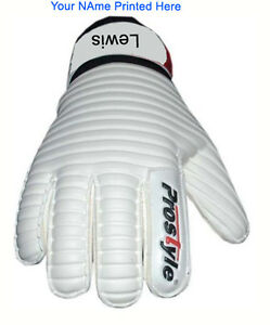 Personalised Goalkeeper Gloves Finger Save Football Goalie Roll Finger Size 4-10