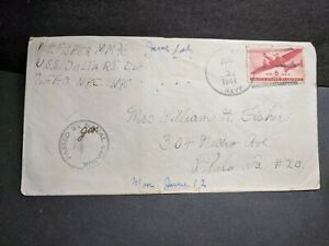 USS DELTA AK-29 Naval Cover 1944 Censored WWII Sailor's Mail BIZERTE, TUNISIA