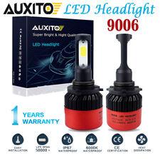 AUXITO 2X 9006 HB4 16000LM COB LED Headlight Kit Car Truck Light Bulbs 6000K USA