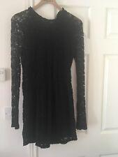 Topshop Black Lace Dress Size 12