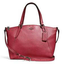 6d2398f11b4 Style: Crossbody. Coach Mini Kelsey Metallic Hot Pink Pebble Leather  Satchel F29639 QBNH3 NEW