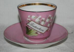 schöne Andenken Porzellan Tasse / Sammeltasse - Maiglöckchen