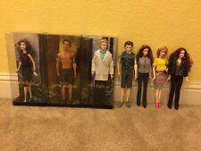 Twilight Barbie Dolls Lot Of 7 Edward Bella Jacob Carlisle Rosalie Victoria Esme