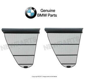 For BMW E39 Set Rear Left+Right Window Shades Quarter Window Dark Gray Genuine