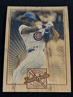 1996 Leaf LIMITED Baseball SAMMY SOSA LUMBERJACKS WOOD INSERT, #d 4580/5k, CUBS