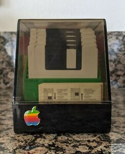 Apple Computer Floppy Disk Storage Boxes Vintage