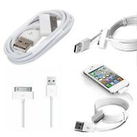 1x White USB Data Cord Sync Cable Charger Cord for Apple iPhone 4 4S 4G 4th IPOD