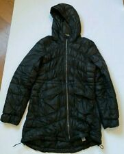 ATHLETA UPTOWN DOWN JACKET COAT PUFFER QUILTED HOODED POCKETS BLACK SIZE S SMALL