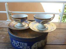 paire de tasses style empire porcelaine tchecoslovaque