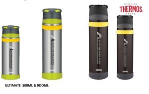 Thermos Stainless Steel Ultimate Insulation MKII Series Flask, - Charcoal
